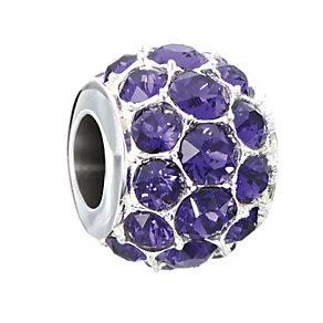 Chamilia Silver Splendor Purple Swarovski Crystal Bead - Product number 2178532