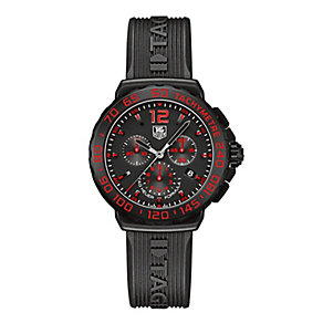 Tag Heuer F1 men's chronograph black rubber strap watch - Product number 2179628