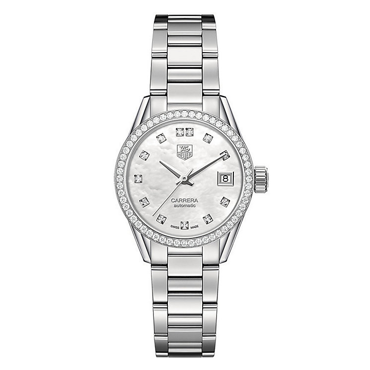 Tag Heuer Carrera ladies' stainless steel bracelet watch