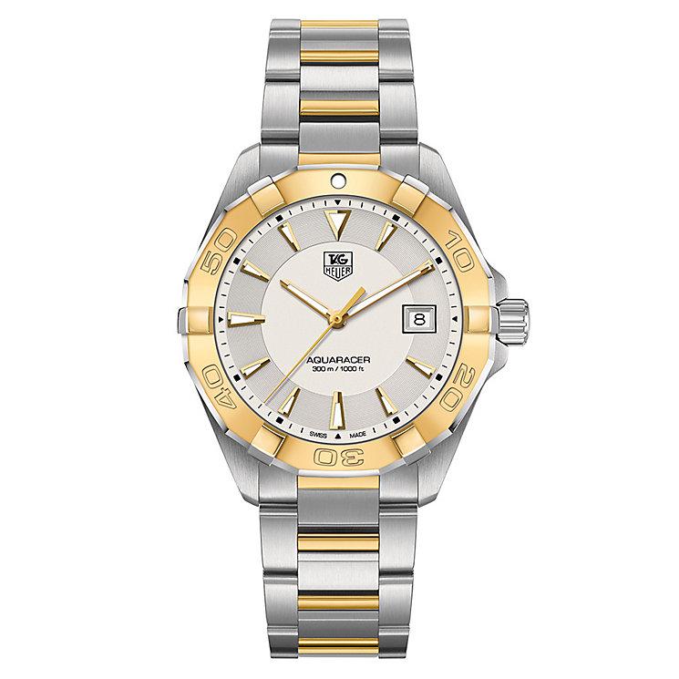 TAG Heuer Aquaracer men's two colour bracelet watch