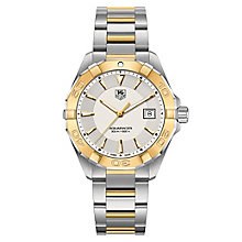 TAG Heuer Aquaracer men's two colour bracelet watch - Product number 2179733