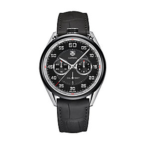 TAG Heuer Carrera men's black leather strap watch - Product number 2179768