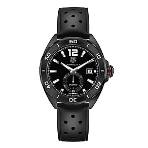 Tag Heuer F1 men's black leather strap watch - Product number 2179830