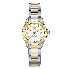 Tag Heuer Aquaracer ladies' two colour bracelet watch - Product number 2179881