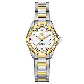 Tag Heuer Aquaracer ladies' 2 colour bracelet watch - Product number 2180189