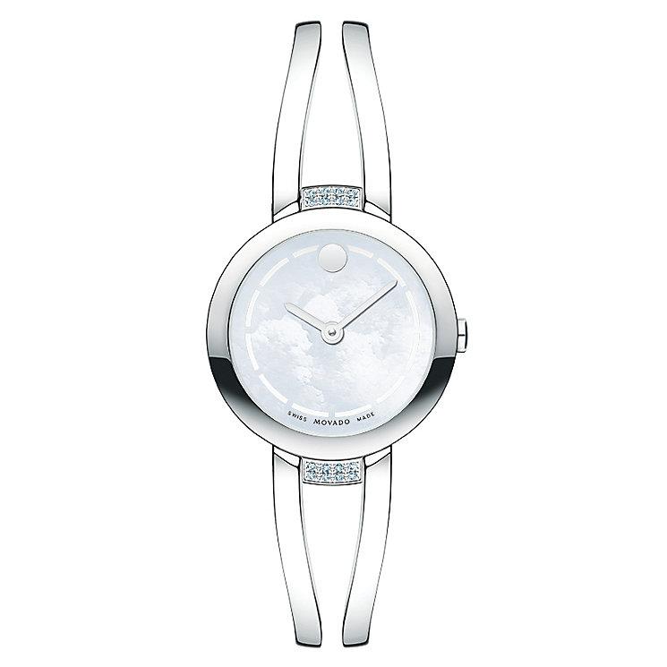 Movado ladies' stainless steel bracelet watch - Product number 2180308