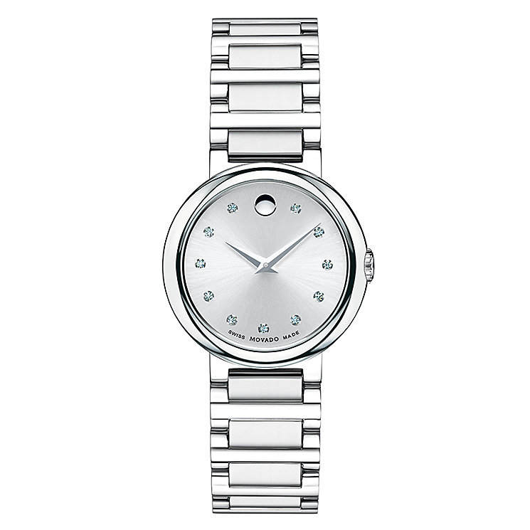 Movado Concerto ladies' stainless steel bracelet watch - Product number 2180316