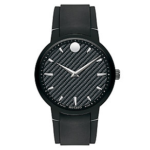 Movado Gravity men's ion-plated rubber strap watch - Product number 2180332