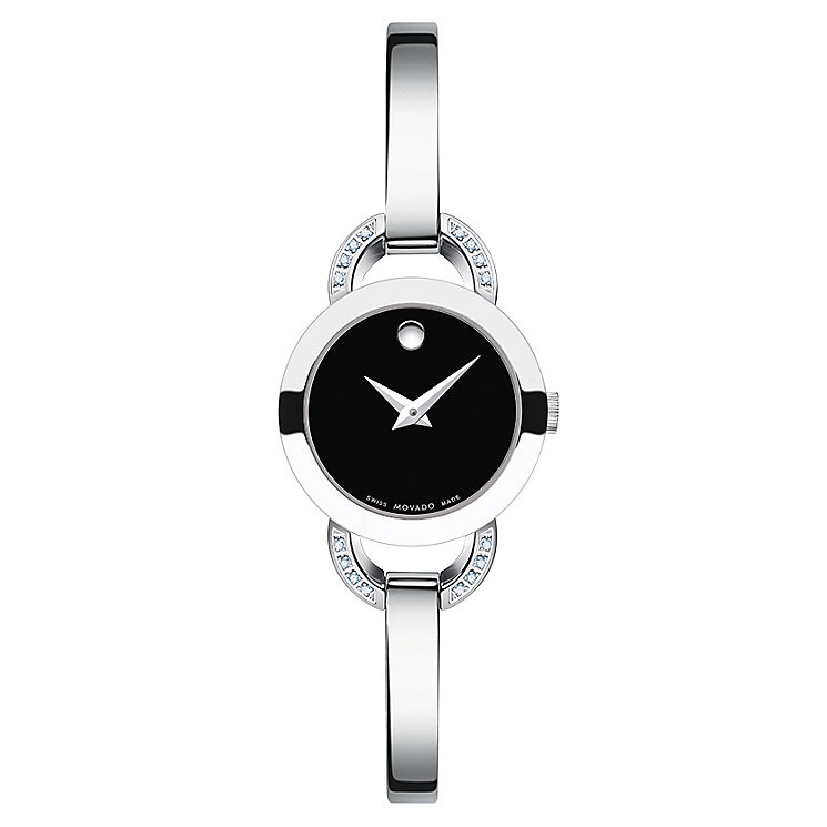 Movado Rondiro ladies' diamond stainless steel bangle watch - Product number 2180448