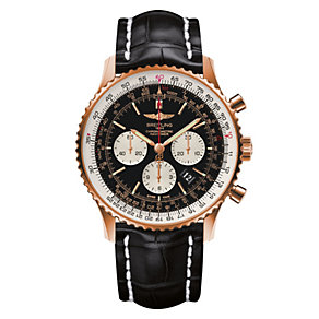 Breitling Navitimer 01 men's black leather strap watch - Product number 2181487