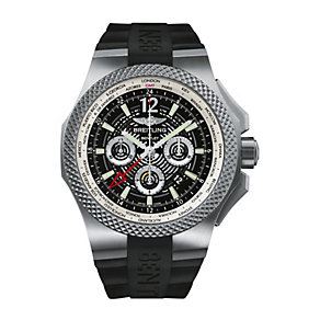 Breitling Bentley Gmt B04 Men's Black Strap Watch - Product number 2181525