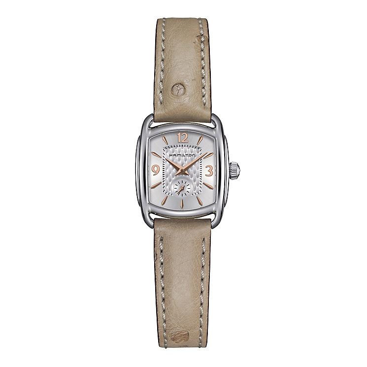 Hamilton ladies' nude leather strap watch - Product number 2181568