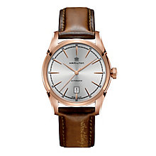 Hamilton men's leather strap watch - Product number 2181630