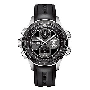Hamilton men's chronograph black leather strap watch - Product number 2181681