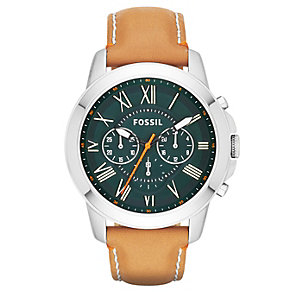 Fossil Men's Chronograph Watch With Tan Leather Strap - Product number 2185776