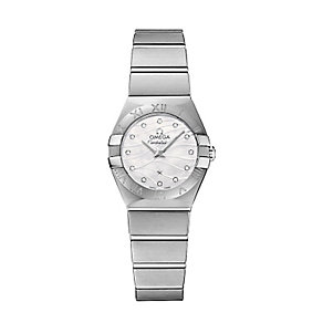 Omega Constellation ladies'  stainless steel bracelet watch - Product number 2185784