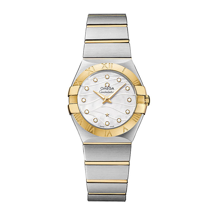 Omega Constellation Quartz ladies' two colour bracelet watch - Product number 2185806