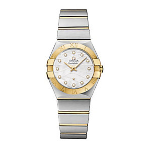 Omega ladies' diamond set two colour bracelet watch - Product number 2185806
