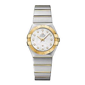 Omega ladies' diamond set two colour bracelet watch - Product number 2185806