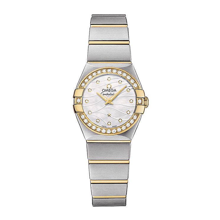 Omega Constellation Quartz ladies' two colour bracelet watch - Product number 2185822