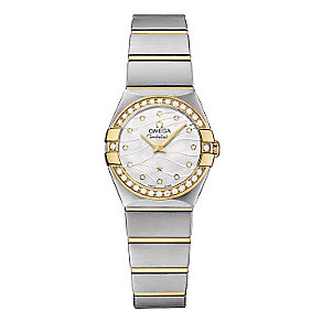 Omega Constellation ladies' two colour bracelet watch - Product number 2185822
