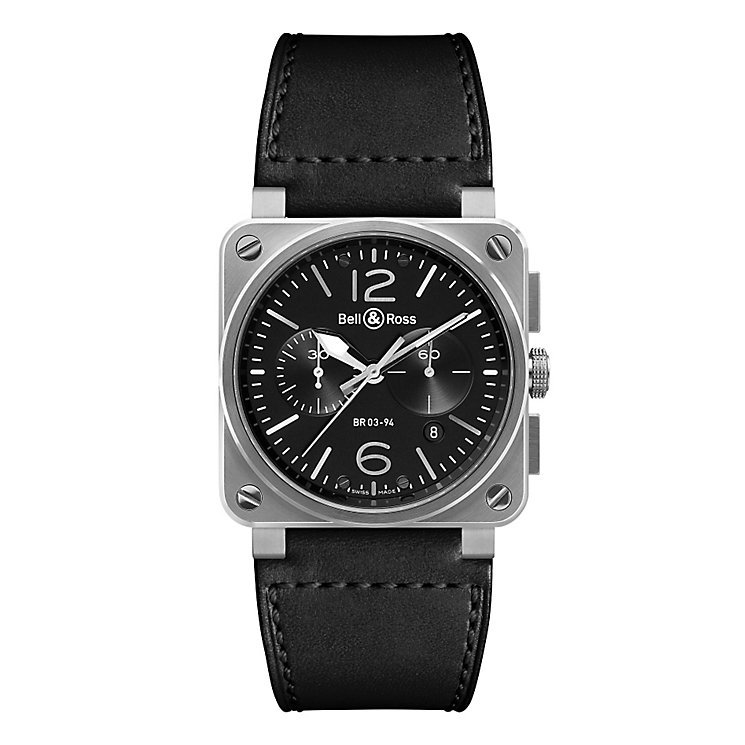 Bell & Ross BR03 men's stainless steel black strap watch - Product number 2185938