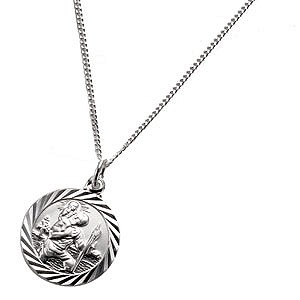 Silver St Christopher Pendant - Product number 2186152
