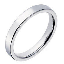 Sterling Silver 3mm Polished Flat Court Wedding Band - Product number 2187531