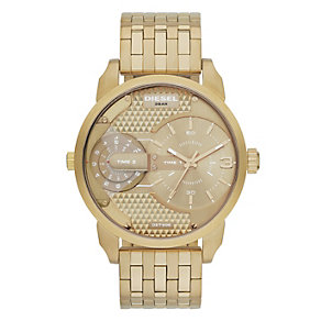 Diesel Ladies' Mini Daddy Collection Gold Tone Watch - Product number 2188090