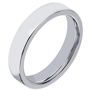 Sterling Silver 4mm Polished Flat Court Wedding Band - Product number 2188368