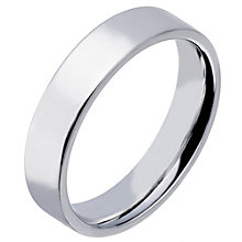 Sterling Silver 5mm Polished Flat Court Wedding Band - Product number 2188600
