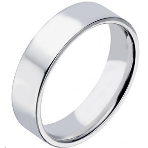 Sterling Silver 6mm Polished Flat Court Wedding Band - Product number 2188910