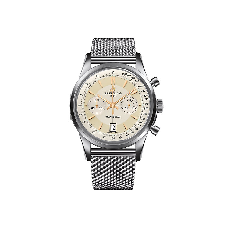 Breitling Transocean men's stainless steel chronograph watch - Product number 2189259