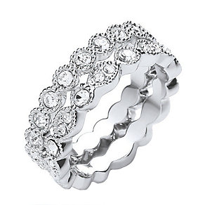 Buckley Crystal Set Vintage Stacker Ring Small - Product number 2190206
