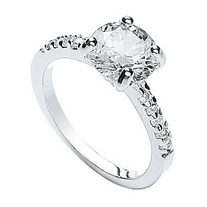 Buckley Cubic Zirconia Solitaire Ring Small - Product number 2190214