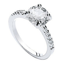 Buckley London Cubic Zircona Solitaire Ring Large - Product number 2190397