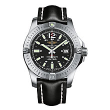 Breitling Colt men's black leather strap watch - Product number 2190478