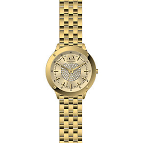 Armani Exchange Ladies' Active Gold Ion-Plated Watch - Product number 2190737
