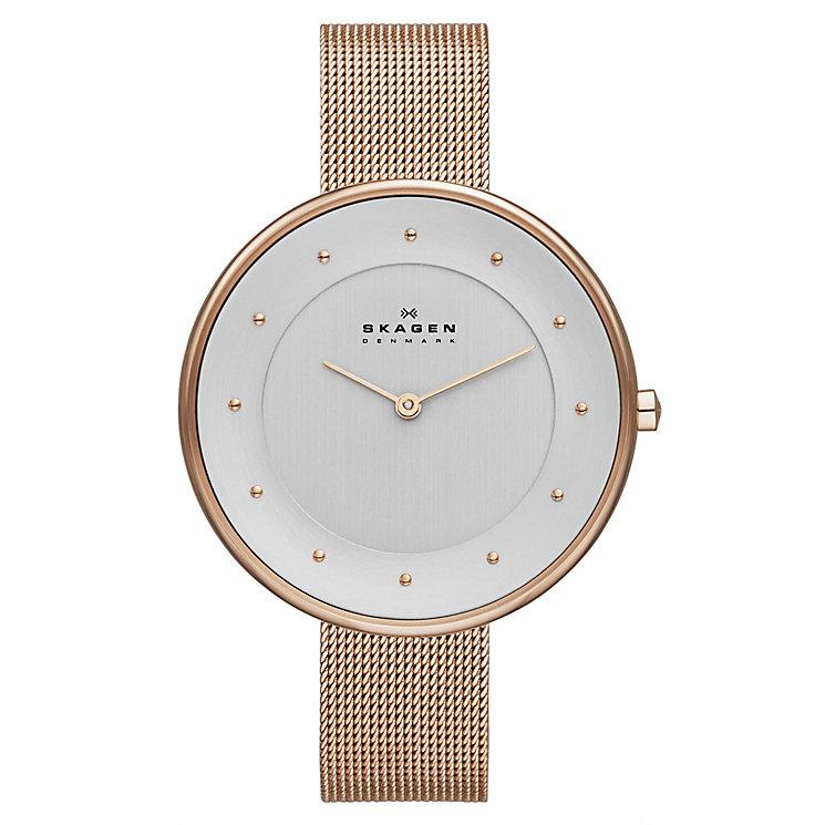 Skagen Ladies' Klassik Rose Gold Tone Mesh Bracelet Watch - Product number 2191431