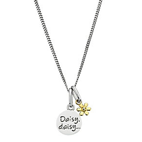 "Children's Silver & 9ct Yellow Gold 14"" Daisy Daisy Pendant - Product number 2192152"