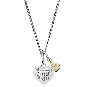 "Children's Silver & Gold 14"" Mummy's Little Angel Pendant - Product number 2192195"