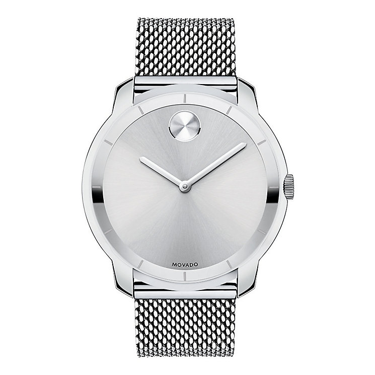 Movado Bold men's stainless steel mesh bracelet watch - Product number 2192225