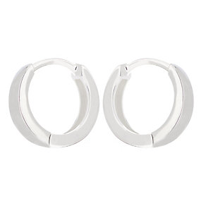 Children's Large Sterling Silver Hinged Sleeper Earrings - Product number 2192330