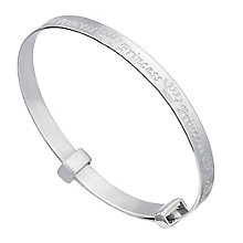 Children's Sterling Silver Princess Expander Bangle - Product number 2192497