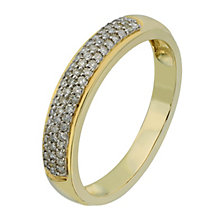 9ct Yellow Gold Triple Row 1/5 Carat Diamond Eternity Ring - Product number 2194406