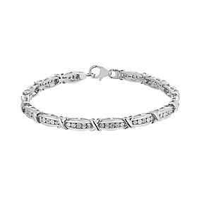 Sterling Silver Diamond Illusion Kiss Bracelet - Product number 2196042