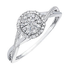 9ct White Gold Round Diamond Cluster Ring - Product number 2203685