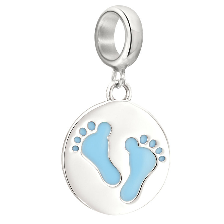 Chamilia Sterling Silver Baby Blue Footprints Bead - Product number 2207575
