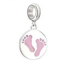 Chamilia Sterling Silver Baby Pink Footprints Bead - Product number 2207583