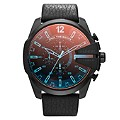 Diesel Men's Mega Chief Collection Black Leather Strap Watch - Product number 2208881